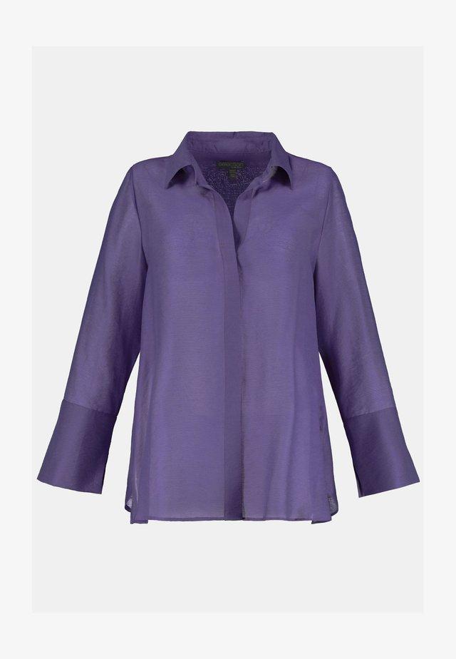 LANGARM, SELEC - Button-down blouse - dunkel lila