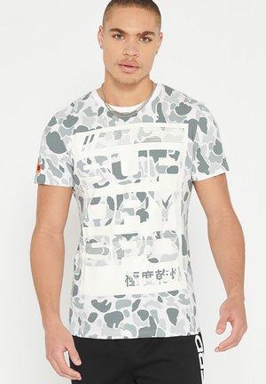 Print T-shirt - white camo