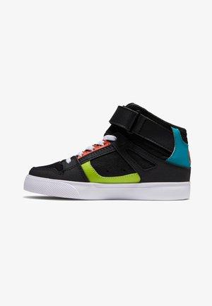 High-top trainers - black/orange/green