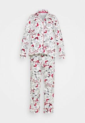 LONG SLEEVES MASCULINE SET - Pyjama set - white