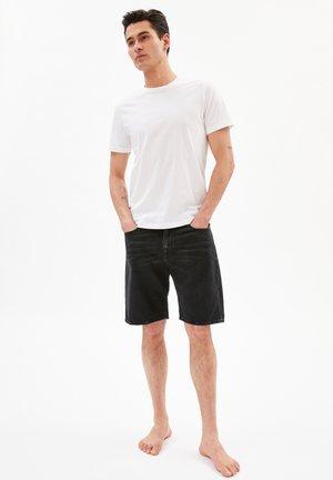 Denim shorts - worn out black