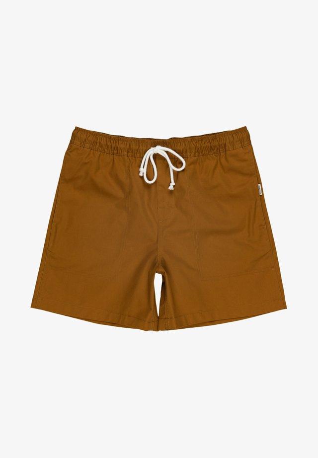 MANUAL TWILL - Shorts - gold brown