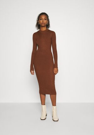 VIKNITTA DRESS - Strikket kjole - tortoise shell