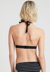 Esprit - MOONRISE BEACH PADDED HALTERNECK - Bikini top - black - 2