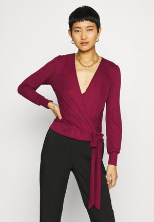 LONG SLEEVE WRAP  - Long sleeved top - oxblood