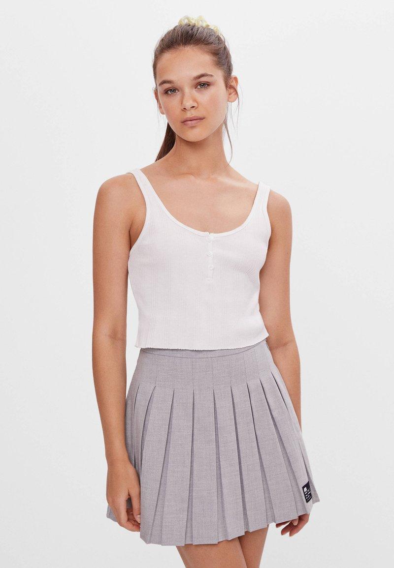 Bershka - Áčková sukně - grey