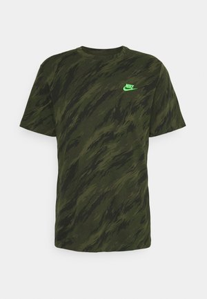 TEE ESSENTIALS - T-shirt z nadrukiem - rough green