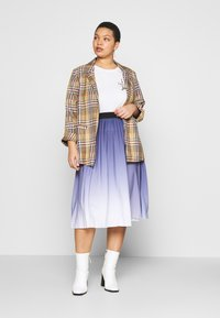 MY TRUE ME TOM TAILOR - PLEATED MIDI SKIRT - A-line skirt - real navy blue - 1