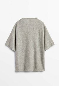 Massimo Dutti - STRICKSHIRT  - Basic T-shirt - grey - 0