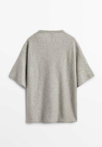 STRICKSHIRT  - Basic T-shirt - grey