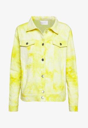 RINA JACKET - Summer jacket - yellow/white