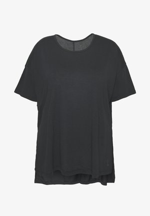 YOGA LAYER PLUS - T-shirt basic - black/ smoke grey