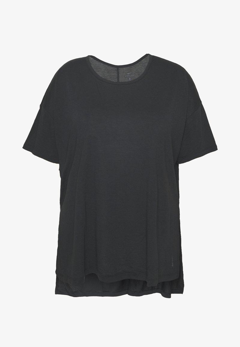 Nike Performance - YOGA LAYER PLUS - Basic T-shirt - black/ smoke grey