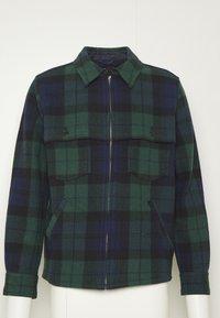 J.CREW - ZIP FRONT BLACKWATCH - Summer jacket - green black - 7