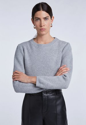 MIT SCHULTERDETAIL  - Jumper - light grey