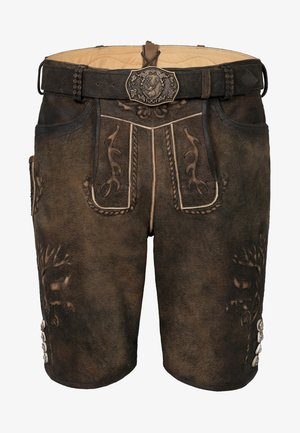 GOMEZ  - Leather trousers - brown