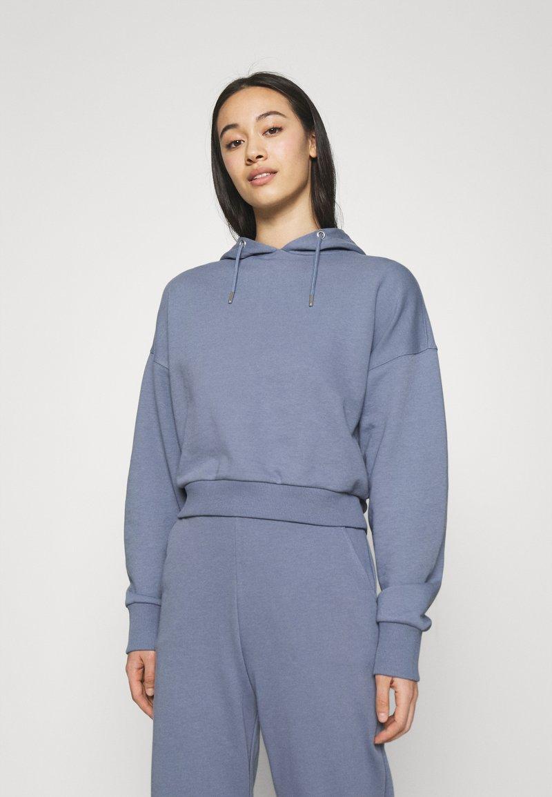 NU-IN - CROPPED HOODIE - Sweatshirt - blue