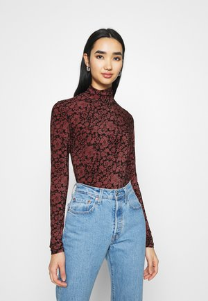 SECONDSKIN MOCKNECK - Long sleeved top - night garden caviar