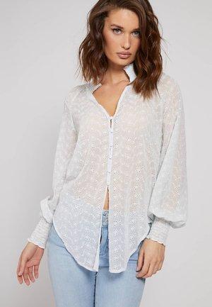 Button-down blouse - himmelblau