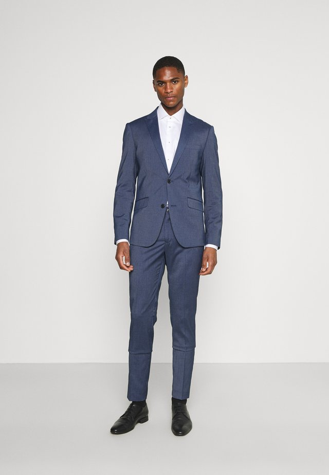 STRETCH GRID CHECK SUIT - Oblek - navy