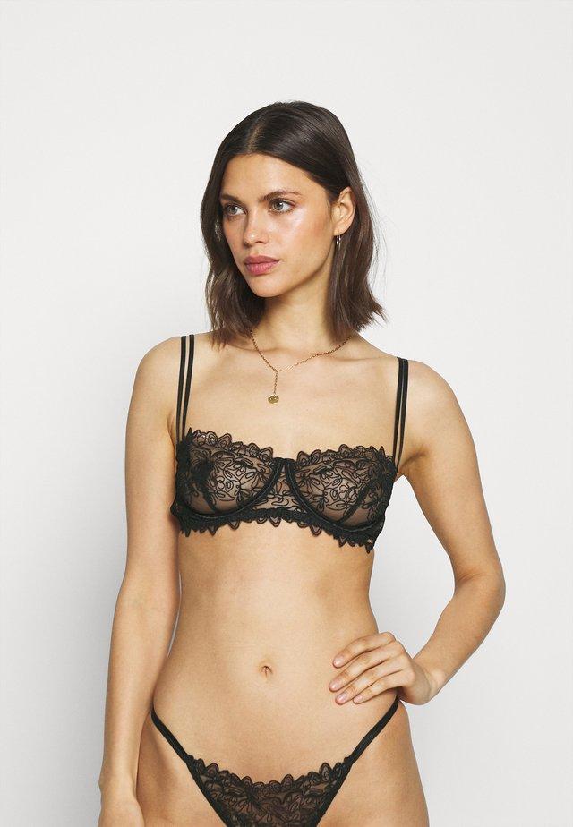 AUDREY BRA - Kaarituelliset rintaliivit - black
