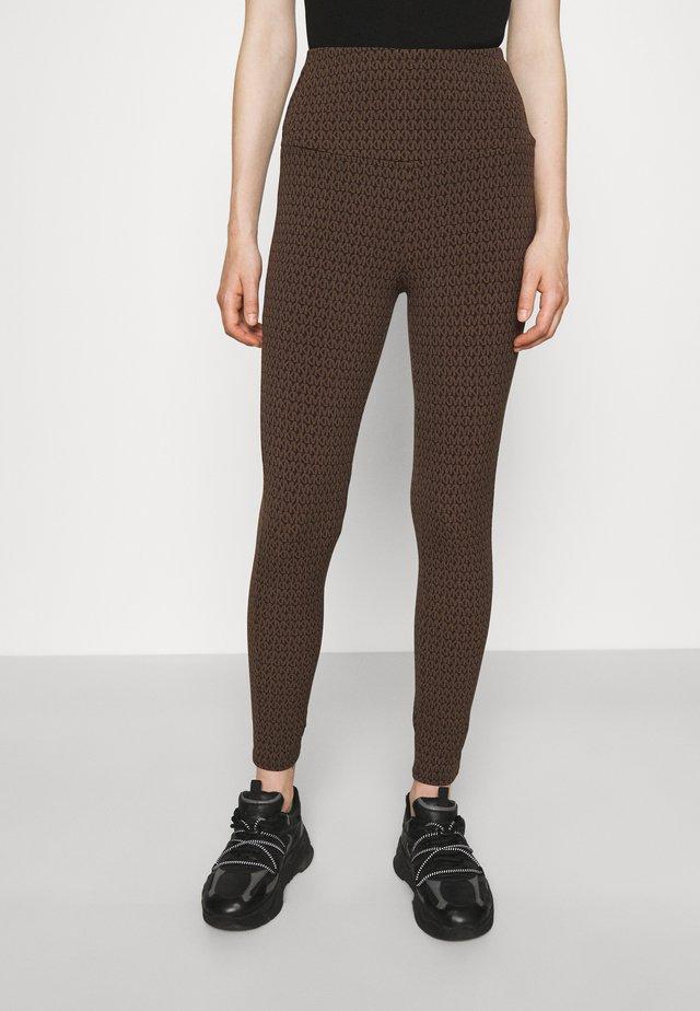 Leggings - Trousers - chocolate
