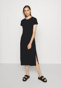 GAP - CREW MIDI DRESS - Jersey dress - true black - 0