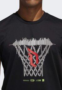 adidas Performance - DAME LOGO T-SHIRT - Print T-shirt - black - 5