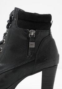 TOM TAILOR - Kotníková obuv - black - 2