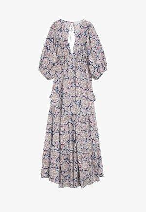 Długa sukienka - bleu