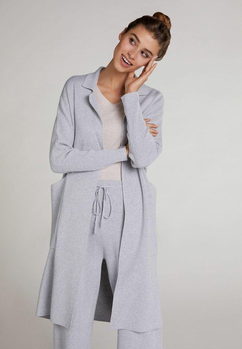 Oui - Cardigan - light grey