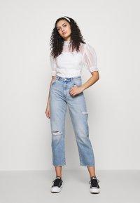 Abrand Jeans - VENICE STRAIGHT - Straight leg jeans - destroyed denim - 1