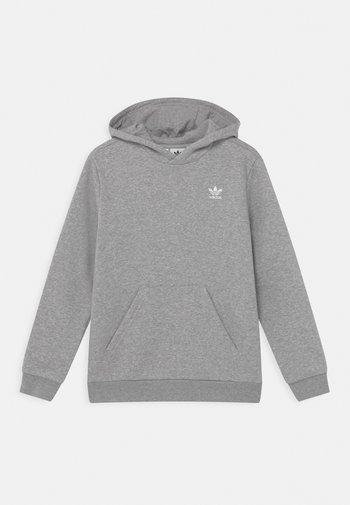 HOODIE - Hoodie - medium grey heather/white