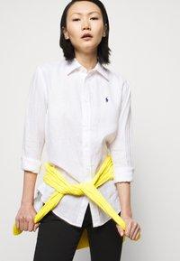 Polo Ralph Lauren - PIECE DYE - Button-down blouse - white - 3