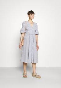 YAS - YASCAMA MIDI DRESS - Shirt dress - dusk blue - 1