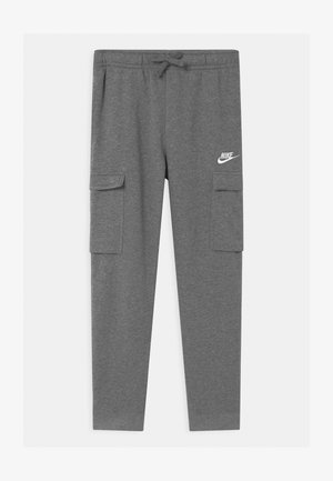 CLUB CARGO  - Tracksuit bottoms - carbon heather/smoke grey/white