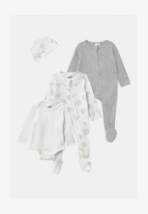 BUNDLE SET UNISEX - Mössa - milk