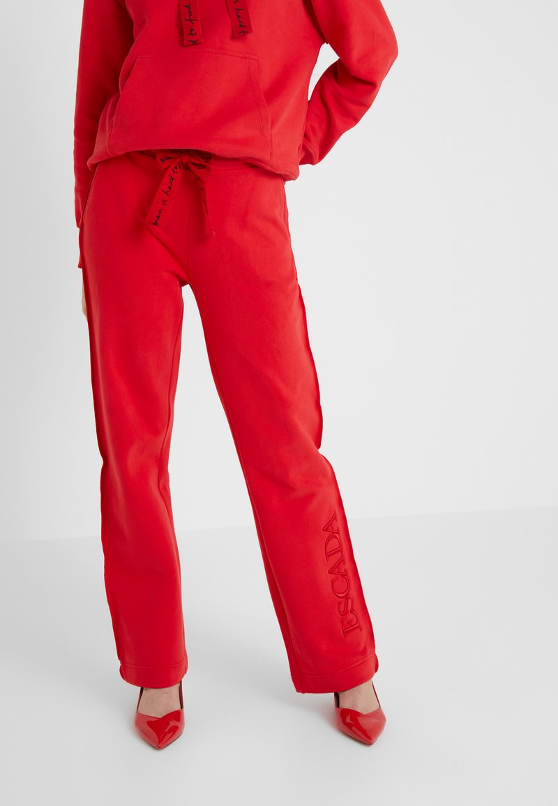 Escada Sport - TEHEART TROUSER - Tracksuit bottoms - red