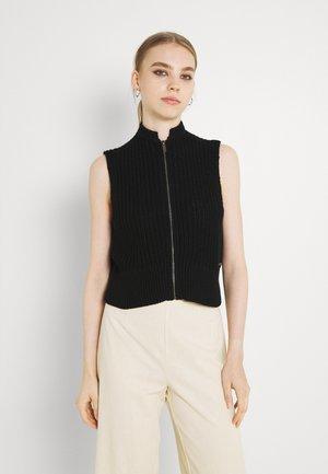 NMLUCIA ZIP  - Waistcoat - black