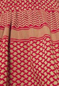 CECILIE copenhagen - SKIRT - A-line skirt - camel/red - 2