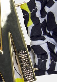 MOSCHINO SWIM - BANDEAU BRA - Bikini top - black/white/light yellow - 4