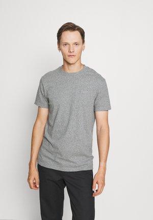VINTAGE LOGO TEE - Basic T-shirt - grey marl