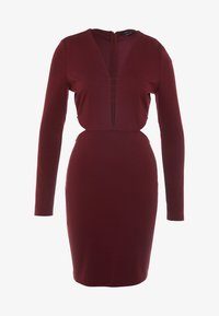 Lost Ink - CUT OUT SIDE BODYCON - Cocktail dress / Party dress - burgundy - 5