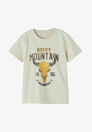 NKMLAURO LS  - Print T-shirt - peyote melange