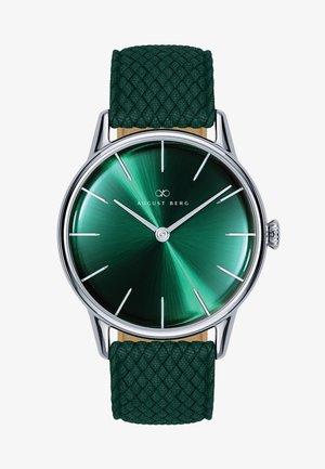 UHR SERENITY GREENHILL SILVER DARK GREEN PERLON 32MM - Horloge - sunray green
