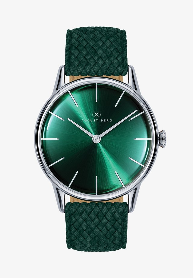UHR SERENITY GREENHILL SILVER DARK GREEN PERLON 32MM - Orologio - sunray green