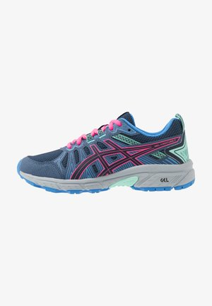 GEL-VENTURE 7 - Trail running shoes - peacoat/hot pink