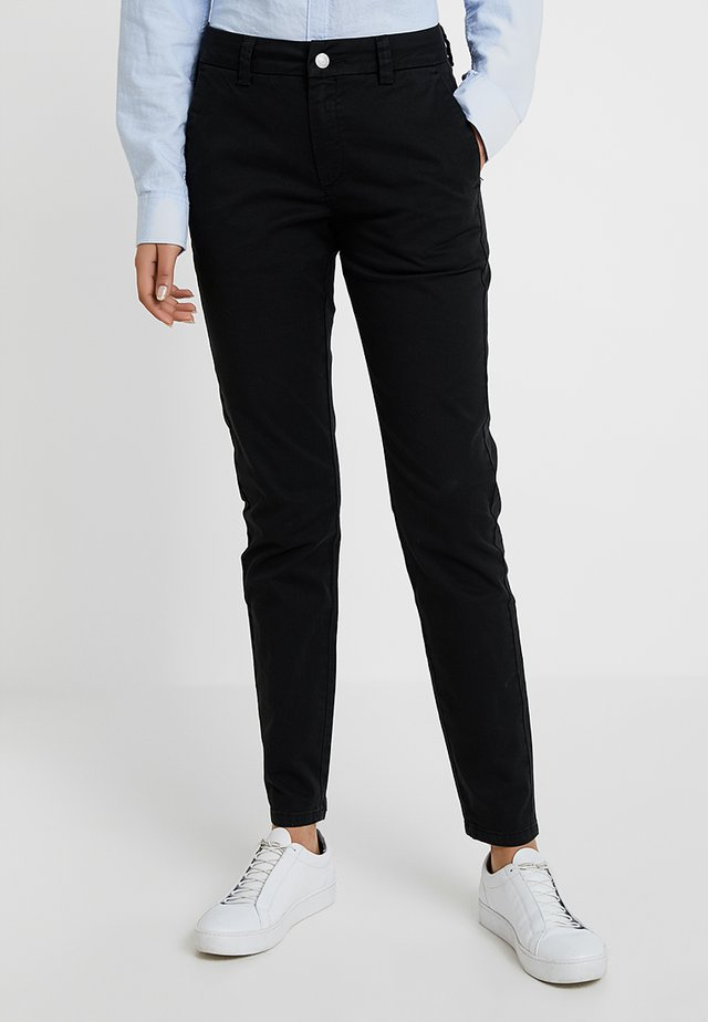 SLFMEGAN - Pantalones chinos - black