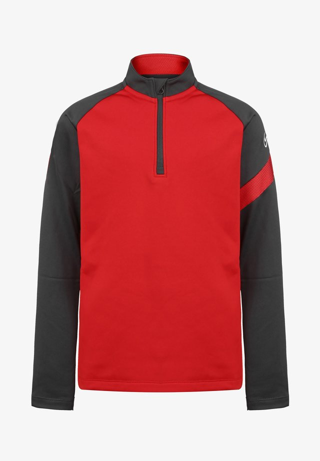 Long sleeved top - university red / anthracite / white