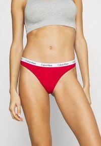 Calvin Klein Underwear - THONG 3 PACK - Thong - red gala/grey/constellation - 4